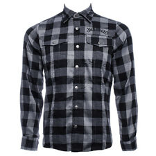 Mens Jack Daniels Black And Grey Checked Casual Shirt Top Alcohol Brand Gifting