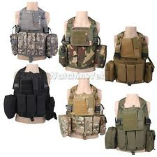 SWAT Tactical Airsoft Army Military Hunting Assault Molle Pouch Carrier VEST