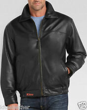 Designer Tailor Made Wash And Wax Lambskin Leather Bomber Jacket For Men M- 30