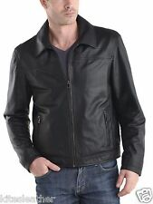 New Dashing Soft Genuine Pure Napa Skin Motorcycle Leather Jacket For Men M- 34