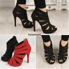 2016  Hot Womens Platform Pump Stiletto High Heels Ankle Boots Sandal Shoes OO55