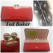 NIB  TED BAKER  KASSADY Leather crystal bobble matinee purse RED