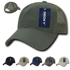 New Decky Relaxed Trucker 6 Panel Pre Curved Bill Baseball Caps Hats Hat Cap