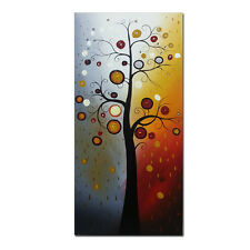 Framed Modern Abstract Canvas Oil Painting Tree of Life Home Decor Wall Art