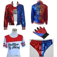Harley Quinn DC Comic Suicide Squad Halloween Cosplay Costume Jacket T-shirt Lot