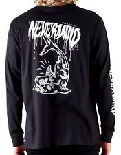 Men's Billabong Never Mind Black Long Sleeved Tee, Size M. NWT, RRP $59.99.