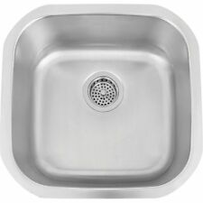 "Barclay PSSSB2078-SS 18"" Square Undermount Prep Sink"