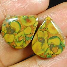 """24 Ct A+++ Matched Pair Of Natural """"Rhyolite"""" Designer Gemstone Cab S-20X15X5 MM"""