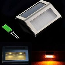 LED Solar Power Path Stair Outdoor Light Garden Fence Wall Landscape Lamp TOP !