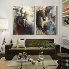 Horse Hand-Painted Oil Painting On Canvas Wall Art Decor For Living Room Framed