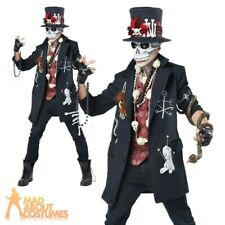 Adult Voodoo Dude Costume Witch Doctor Black Magic Halloween Fancy Dress Outfit
