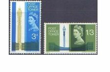 Great Britain 1965 POST OFFICE TOWER (PHOSPHOR) (2) SG 679p-80p Unhinged Mint