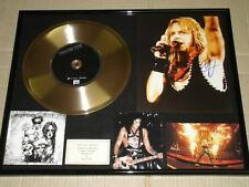 Motley Crue Signed Vince Neil Greatest Hits CD Gold Disc Frame