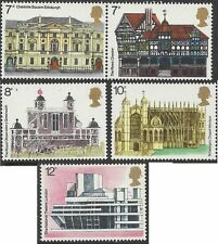 Great Britain 1975 ARCHITECTURE (5) Unhinged Mint SG 975-9