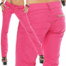 Cassie Pink Woman Designer Jeans Trousers Pants Low Rise Bootcut New