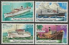Papua New Guinea 1976 SHIPS (4) Unhinged Mint SG 297-300