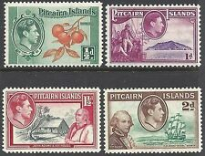 Pitcairn Is 1940 ½d to 2d KGVI (Ships, Fruit, Famous People)UHM SG 1-4 CV£4.80