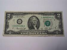 1976 - Chicago G Federal Reserve Note - $2 Two Dollar Bill - Old Paper Money