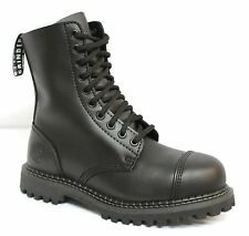 Grinders Smart Black Military Style Combat Boots 10 Eyelets and Steel toe Cap
