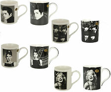 ICON COLLECTION FINE CHINA MUGS ELVIS THE BEATLES AUDREY HEPBURN MARILYN MONROE