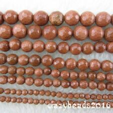 4-10mm Goldstone Faceted Round Gemstone Loose Beads for Jewelry Making 15""