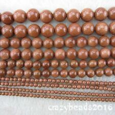 Beautiful 2-10mm Goldstone Round Gemstone Loose Beads for Jewelry Making 15""