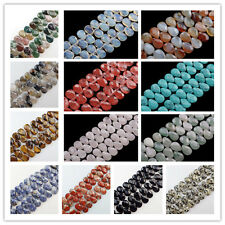 HOT ! 18x13x6mm Faceted Natural Mixed Gemstone Teardrop Loose Bead 8 inch LX-348