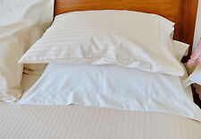 1000 TC Cotton Sheet Set Ivory Stripe NaturaHome