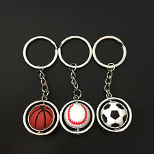 Mini Sports Football Golf ball Baseball Basketball Mans Keychain Key Ring Gift U