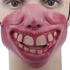 Funny Face Half Mask Scary Mask Masquerade Halloween Party Props Cosplay Costume