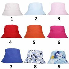 Cotton Adults Bucket Hat Summer Fishing Fisher Beach Festival Sun Cap Cozy Hot