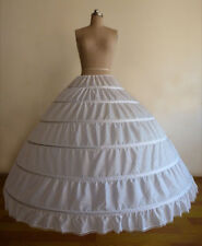 White Black 6 Hoops Wedding Dress Ball Gown Crinoline Petticoat Skirt Underskirt