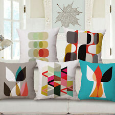 Nice Geometry Woven Linen Cushion Home Decor Throw Pillows Case Gift Covers