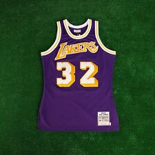 1984-85 Magic Johnson Los Angeles Lakers Mitchell & Ness Purple Authentic Jersey