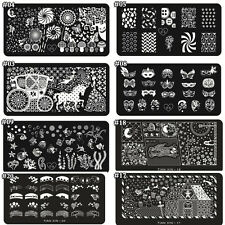 Women Professional Rectangle Design Nail Art Stamping Stamp Image Template Plate