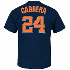 Detroit Tigers Miguel Cabrera #24 MLB Navy Name & Number Player T-Shirts: L-2XL