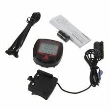 Digital Bicycle Bike LCD Cycling Computer Odometer Speedometer Stopwatch New LC