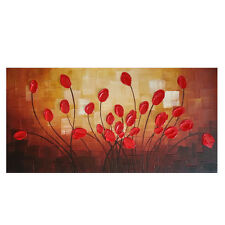 Framed Abstract Hand Paint Oil Painting on Canvas HomeDecor  Wall Art Flowers