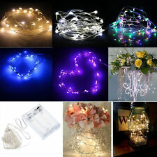 2/5/10M Button Battery Operated LED Copper Wire String Fairy Lights Xmas Party K