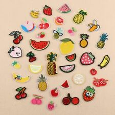 NEW FLOWER PINK YELLOW BLUE EMBROIDERED FABRIC IRON ON APPLIQUE PATCH BADGE
