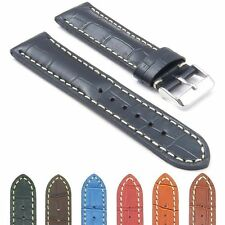 DASSARI Concord Leather Watch Band Croc Strap fits Breitling Navitimer World