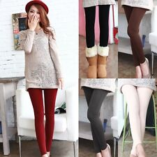 2016 New Womens Warm Winter Thick Skinny Slim Footless Leggings Stretch Pants