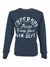 Mens Large Superdry Boxing Yard Crew Sweatshirt in Vintage Denim Blue