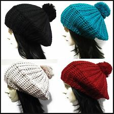 Classic women's soft warm Wool blend Beret hat French Artist Beanie slouch Cap