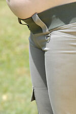 Maternity khaki cotton spandex cargo pants NWT Stylish, functional and comfy