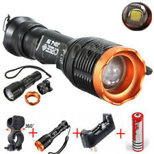 3000LM XM-L T6 LED Flashlight Torch Bicycle Head Front Light Lamp+18650+Charger