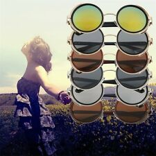 Steampunk Sunglasses Round Glass Cyber Goggles Vintage Retro Style Blinder Lot L
