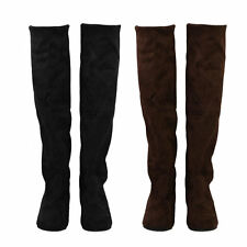 Womens Boots Ladies Sexy Knee-high Long Boots Low Heel Winter Autumn Shoes AU