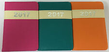 2017 DIARY VIBRANT LEATHERETTE WEEK TO VIEW POCKET/SLIMLINE/A5