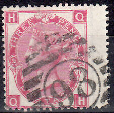GB 1867/80 QV SG: 103, 3d ROSE, LARGE UNCOLOURED LETTERS, RIGHT WING. MARGIN, fu